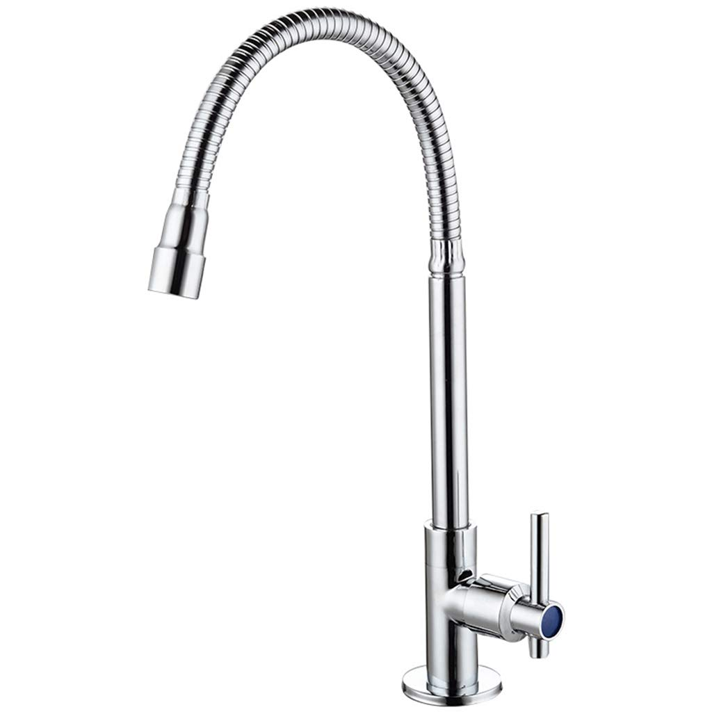 Yxx max Bathroom Kitchen Faucet 360 Degree Rotation Single Cold Sink Faucet
