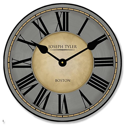 The Big Clock Store Waterford Gray Wall Clock, Available in 8 sizes, Most Sizes Ship the Next Business Day, Whisper Quiet.