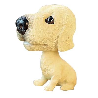 BLANCHO BEDDING [Doré Labrador] Cool Bobbleheads Ornements de Voitures Décors Auto, 4.7x2.3''
