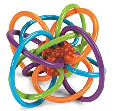 Manhattan Toy Winkel Rattle and Sensory Teether Activity Toy - 2Pack