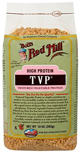 Soy Protein Organic Textured (Bob's Red Mill High Protein T.v.p, Textured Vegetable Protein, 10 oz)