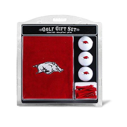 (Team Golf NCAA Arkansas Razorbacks Embroidered Towel Gift Set)