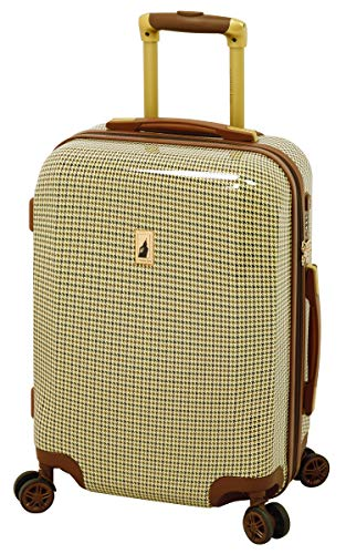 London Fog Cambridge 20 Expandable Hardside Spinner, Olive Plaid