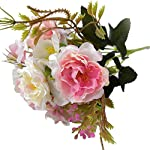 helegeSONG-Fake-Flowers-Silk-Plastic-Artificial-Plant-1Pc-Artificial-Flower-Peony-Garden-DIY-Stage-Party-Home-Wedding-Festival-Decor-for-HomeOfficeWeddingGarden-Gift-Desk-Hotel-Light-Pink