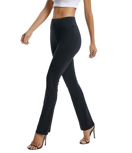 63d32d05da364 RIOJOY Women's Bootcut Yoga Pants High Waist Flare Stretchy Tummy Control  Workout Athletic Bootleg Trousers