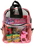 BusyBags - Activity Travel Bags for Kids - Hours of Quiet Activities - Durable See Through Backpack - Keep your kids busy on airplanes, roadtrips, waiting at restuarants, etc. - Girls