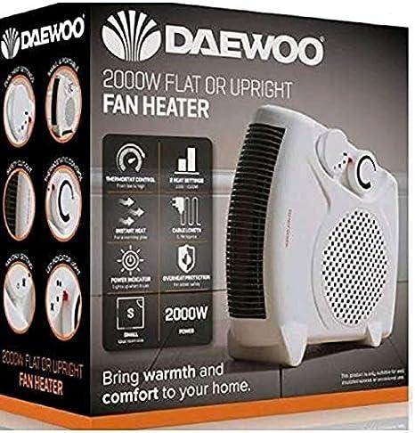 Daewoo 2kw Electric Flat Upright Fan