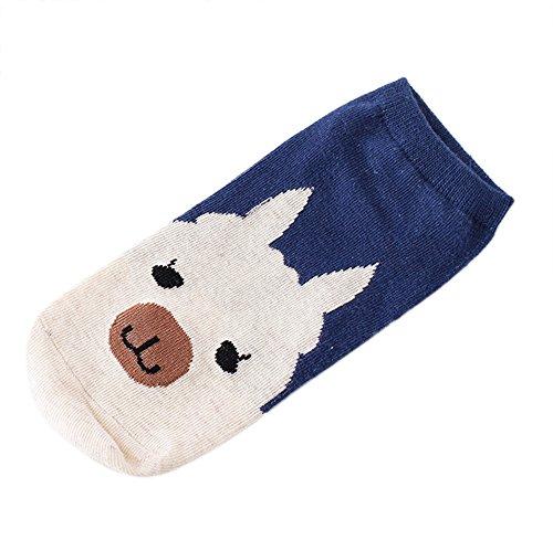 Slipper Set Hardware (Lanhui Women Comfortable Cartoon Cute Cotton Sock Slippers Short Ankle Socks 1Pairs (Medium, Khaki))