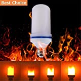 LED Flame Effect Light Bulb E26 E27 Flickering Flame 7W/AC85V-265V/102pcs 2835 LED Bead Light Lamp Decorative LED Bulb with Flickering Vintage Atmosphere for Bar/Hotel/Night Clubs/Restaurant
