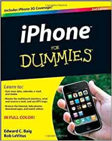 iphone for dummies 2nd second edition by baig edward c