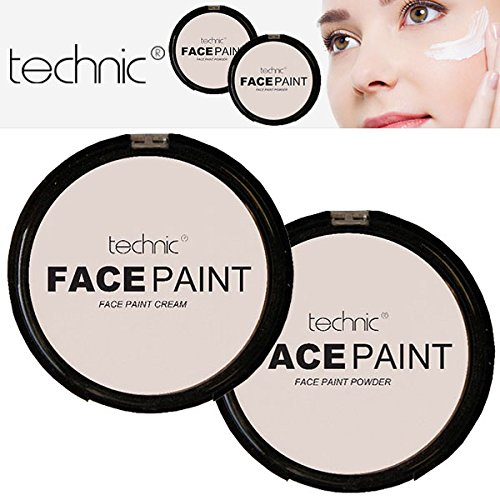 Technic White Foundation Cream Face Paint or Powder Halloween Goth MakeUP (Vampire Makeup Looks)