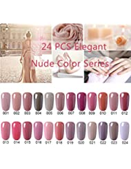 CLAVUZ Gel Nail Polish 24pcs Soak Off Gel Nail Polish...