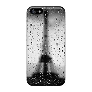 Iphone 5/5s Case Cover - Slim Fit Tpu Protector Shock Absorbent Case (rainy Paris)