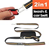 BOCHO Dog Seatbelt Leash,6.6Ft Pet Safety Harness, Nylon Reflective Safety Dog Leash Leads for Large and Medium Dogs.