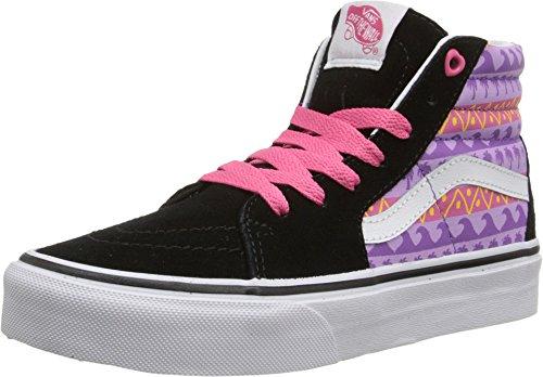 (Vans Sk8 Hi Kid's High Top Sneakers (11 M US Little Kid, Pink Helmet Posse Multi Black))