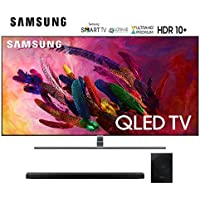 Samsung-QN75Q7FN 75 Q7FN Smart 4K Ultra HD QLED TV (2018) Bundle with Samsung-HWN650 5.1CH Soundbar System QN75Q7F QN7579 75Q7F 75Q7