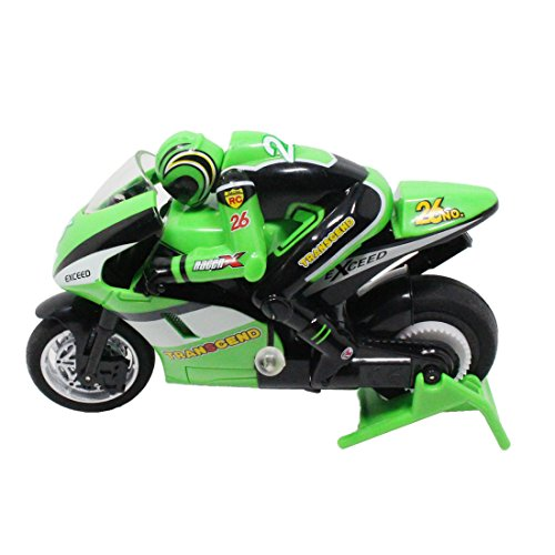 CatchStar Remote Control Motorcycle with Light, 1 : 20 Scale, 2.4GHz 4 Channel Green