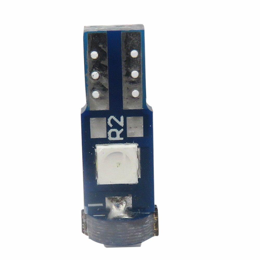 WLJH T5/CANBUS sans Erreur de Voiture Instrument Tableau de Bord lumi/ères LED Ampoule de Remplacement 74/2721/17/3030smd 12/V Int/érieur d/ôme lumi/ère Lampes, Vert, Lot de 6