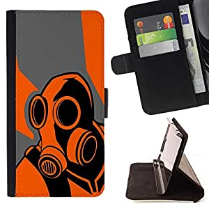 Momo Phone Case / Flip Funda de Cuero Case Cover - Orange Psycho - B0Rderlands Game - Samsung Galaxy A5 ( A5000 ) 2014 Version