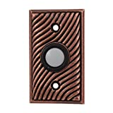 Vicenza Designs D4007 Sanzio Rectangle Style Doorbell, Antique Copper