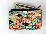 Bright Colorful Donuts Doughnuts Coin Purse Change Holder by Debbie's Designs