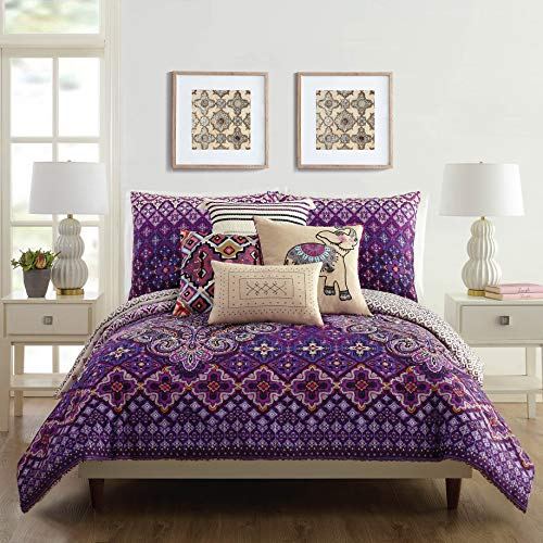 Vera Bradley Dream Tapestry Comforter Set, Full Queen, Purple
