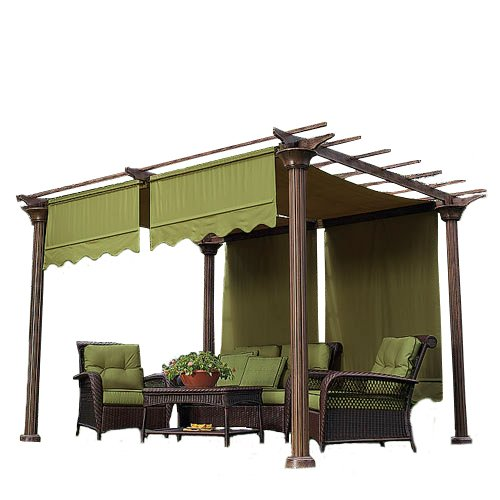 Garden Winds Universal Replacement Pergola Canopy II - Sage Green