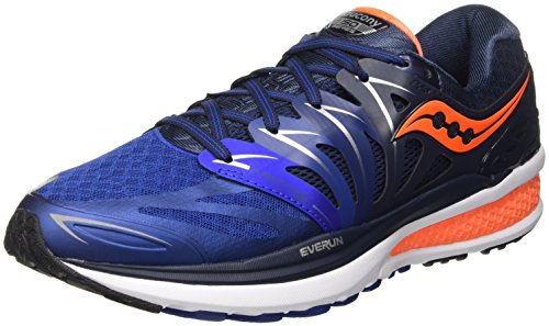 Saucony Men's Hurricane Iso 2 running Shoe, Navy/Blue/Org, 10 M US