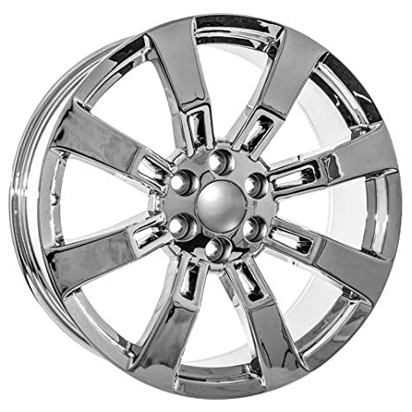 Amazon Com 22 Inch Chrome Chevy Ck375 Replica Wheels Fits Silverado