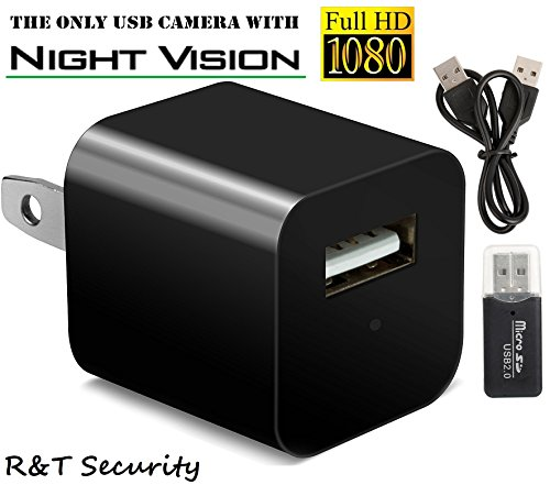 White Ir Control System (Night Vision Spy Camera Charger - Hidden Camera Adapter - Mini Spy Camera 1080p - USB Charger Camera - Hidden Spy Camera - Hidden Nanny Cam - Hidden Spy Cam with Infrared)