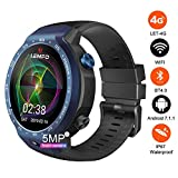 LEMFO LEM9 4G LTE Dual Systems Smart Watch Phone, 1GB+16GB Android 7.1.1,1.39 inch Display 5MP Front Camera, 600Mah Battery Heart Rate Monitor, Pedometer,GPS Smartwatch Wristband for Men Women(Blue)