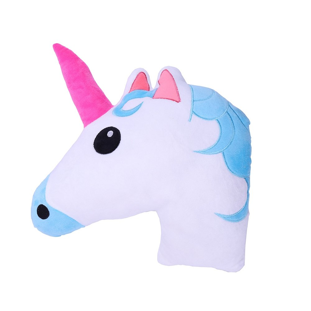 lavendei Unicornio Cojín Emoji | Unicorn Emoticon ...