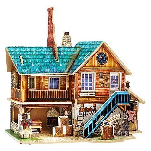 Ochoos Robotime DIY 木製 手工芸品店 モデル ビンテージ 室内装飾 置物 ミニチュア 家 オーナメント ギフト 子供用 F139 OCH-C7376EC16FB8E0F66D08778B5368DAF4  Handicrafts B07NS9MJ5V