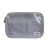 Ringke [Pouch] Travel Organizer Bag Multi-function Travel Portable Pouch, Mesh & Transparent Vinyl Window, Zippered Top, Divided Pockets Tidy Electric Gadgets Accessories Cosmetic Bag - Ash Grey (M)