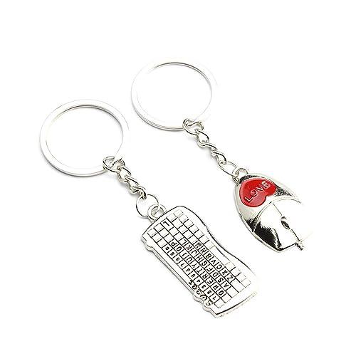 Amazon.com: YPY 1 par de llaveros de aleación para pareja de ...