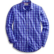 Goodthreads Men's Standard-Fit Long-Sleeve Large-Scale Check Shirt