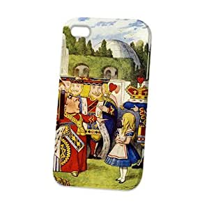 Case Fun Apple iPhone 4 / 4S Case - Vogue Version - 3D Full Wrap - Alice in Wonderland Queen of Hearts hjbrhga1544