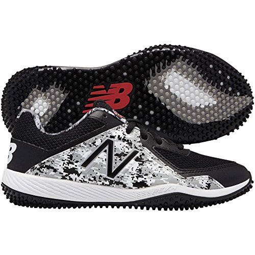 (New Balance Boys' TY4040 Turf Baseball Shoe, Black/White, 6 M US Big Kid)