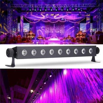 Led Light Bar - Uv Light Bar - 9x3W Bar Blacklight DJ Club Party Wall Decor Lamp AC100-240V - US plug (Uv Led Light Bar)
