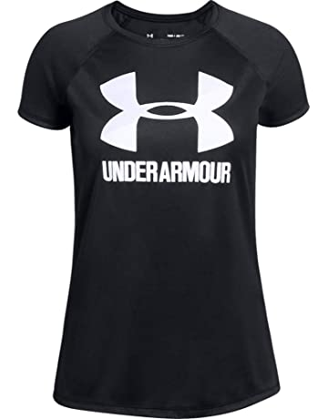 b0074bd416c67f Under Armour Children's Big Logo Tee Solid Ss Short-Sleeve Shirt
