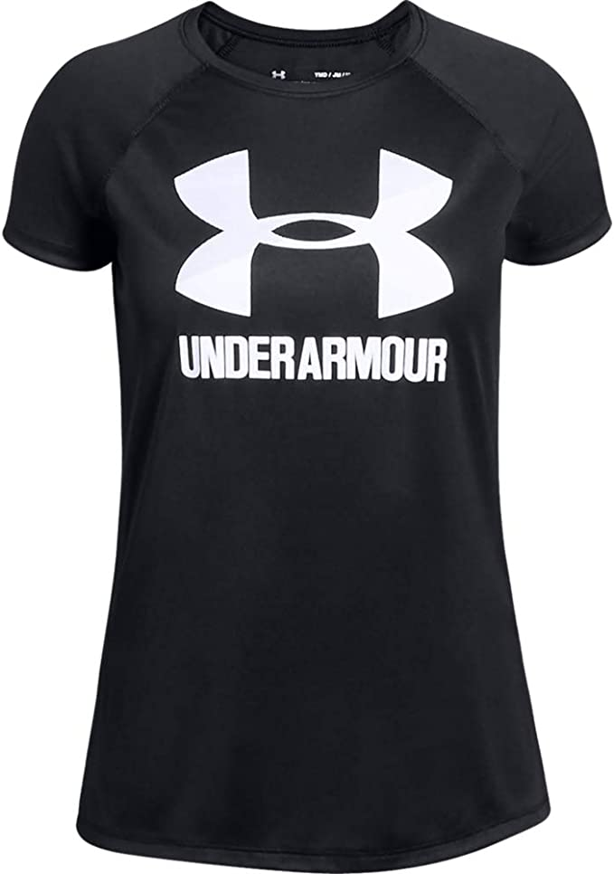 Under Armour Girls Hybrid 2.0 Big Logo T-Shirt