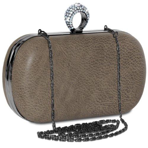 CASPAR Taschen & Accessoires - Cartera de mano con asa para mujer - gris