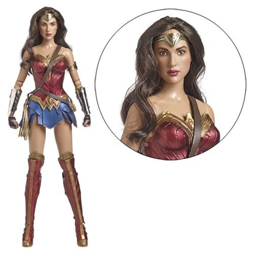Wonder Woman Collectible Justice League Movie Statue 16 inch Amazon Warrior Princess Gal Gadot Actress figurine sculpted depicting her movie costume as she carries her golden lasso