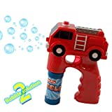 Kidsthrill Fire Truck Bubble Shooter Gun With Sirens And Music – 2 Bubble Solution Included
