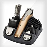 New Professional 11 in 1 Electric Blade Men's Trimmer of Body & Ear & Nose Mens Hair Clipper Beard Trimmer Electric Hair Shaver Rechargeable Cutting Machine Haircut (11 in 1)