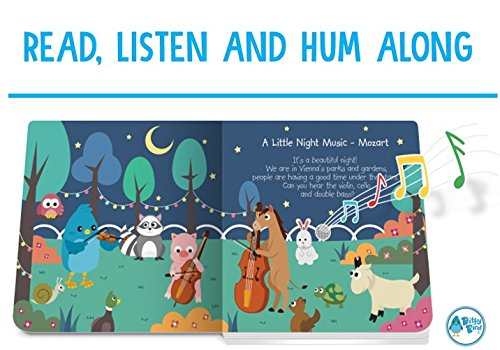 OUR BEST INTERACTIVE CLASSICAL MUSIC SOUND BOOK for BABIES with Melodies Mozart Beethoven. Educational Toys ages 1-3. Baby Books for one year old. Toddler Musical Book. 1 year old boy girl gifts. by Ditty Bird (Image #3)