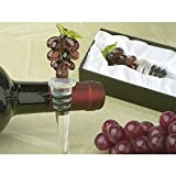 Murano Art Deco Collection Grapes Wine Stopper - 60 Pieces