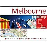 Melbourne Popout Map - handy pocket size pop up map of Melbourne (PopOut Maps)