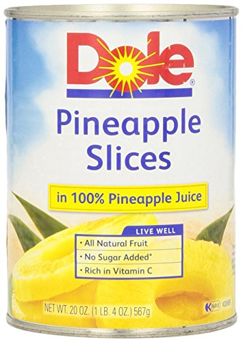 DOLE Pineapple Slices in 100% Pineapple Juice 20 oz Can