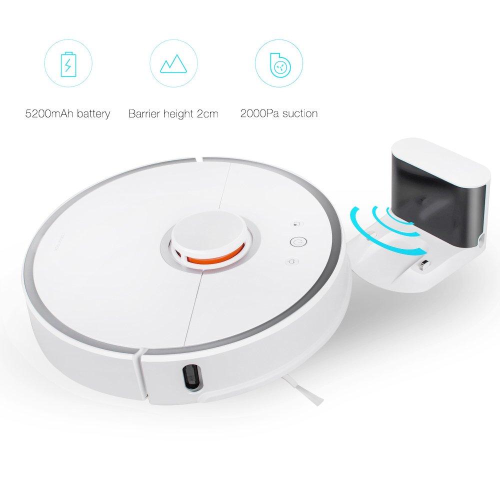 Xiaomi Robot Vacuum Cleaner, ROBO Rock Mi Ⅱ Automatic Robo Vac, Wi ...